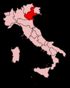 VenetoinItalyMap