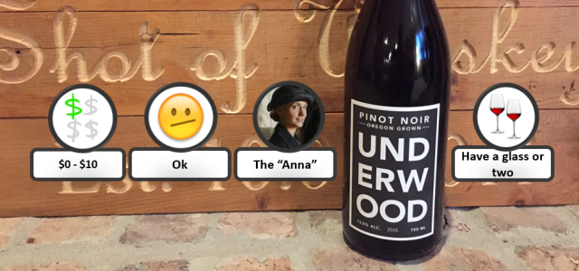 Underwood Pinot Noir Rating