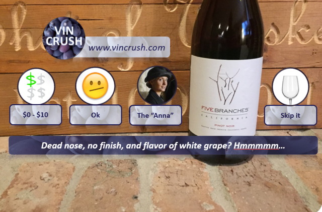 Five Branches Pinot Rating